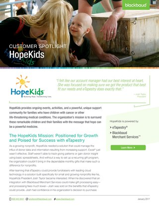 Hope Kids Customer Story