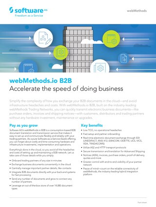 webMethods.io B2B: Accelerate the speed of doing business