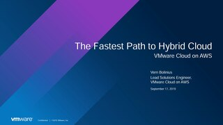 VMware - The fastest path to hybrid cloud