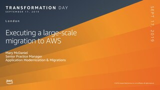 Executing a large-scale migration to AWS
