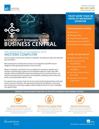 Dynamics 365 Business Central Info Sheet