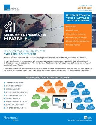 Dynamics 365 for Finance & Operations Info Sheet