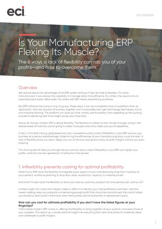 MFG AUS Is Your Manufacturing ERP Flexing Its Muscle