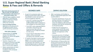 U.S. Super Regional Bank - Retail Banking