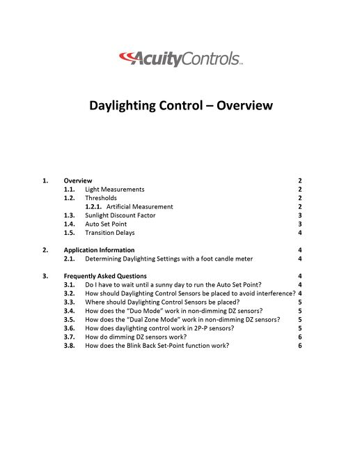 Daylighting Controls Application Guide