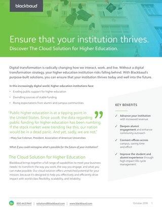 Cloud Solution for HigherEd