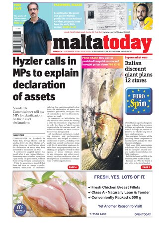 MALTATODAY 1 September 2019