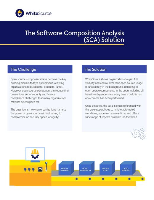 WhiteSource Software Composition Analysis Solution Datasheet