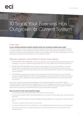 MFG AUS 10 Signs Your Business Has Outgrown Current System