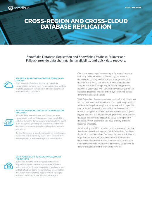 Cross-Region and Cross-Cloud Database Replication