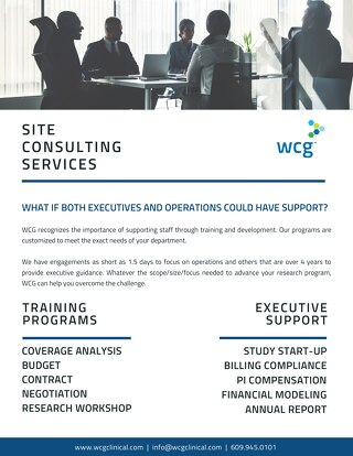 WCG Consulting for Institutions
