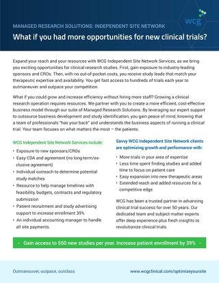 WCG PharmaSeek - For Sites - Study ID