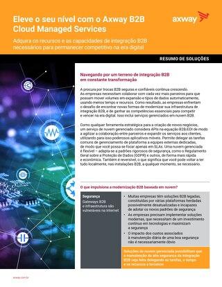 Eleve o seu nível com o Axway B2B  Cloud Managed Services