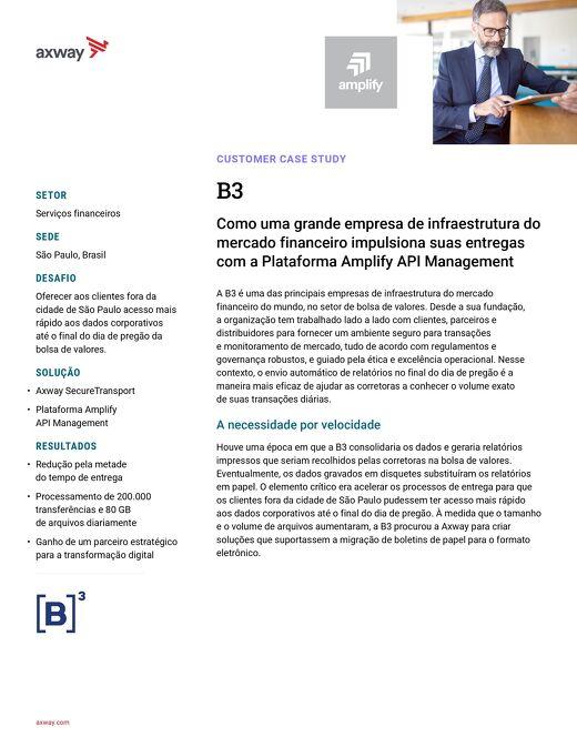 A B3 acelera as entregas com o AMPLIFY™