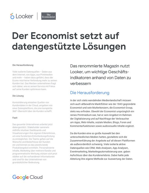 The Economist-Fallstudie