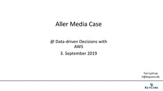 Copenhagen Sep 2019 - Aller media Case