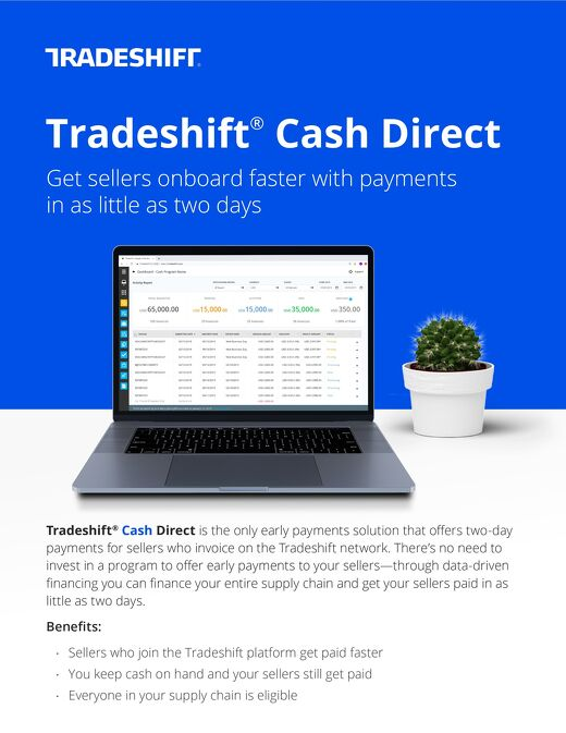 Tradeshift Cash Direct Datasheet