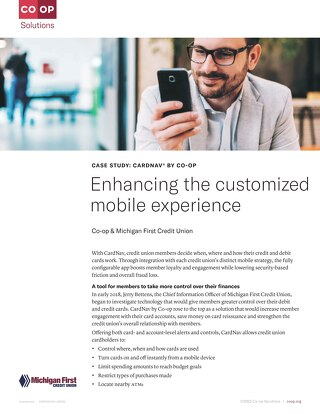 Michigan First CU Enhances Mobile Experience With CardNav API Integration