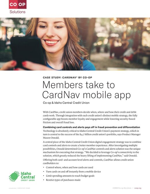 'Card Controls for the Win!' Idaho Central CU Members Take to CardNav Mobile App