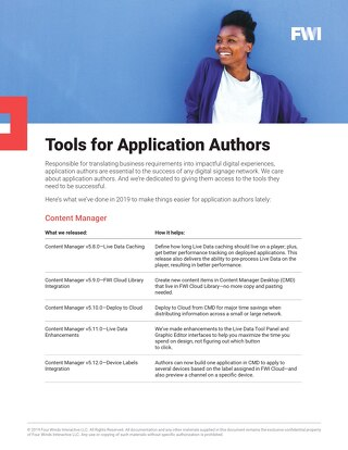 Tools for Application Authors
