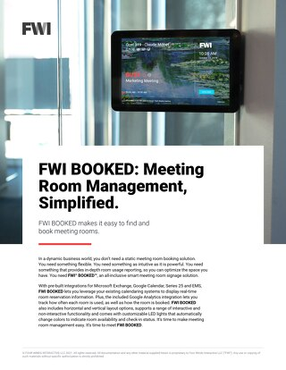 FWI BOOKED: Meeting Room Management, Simplified