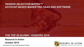 Engagio Named #1 Global Winner  |  Research in Action's Top 20 Global ABM Vendors