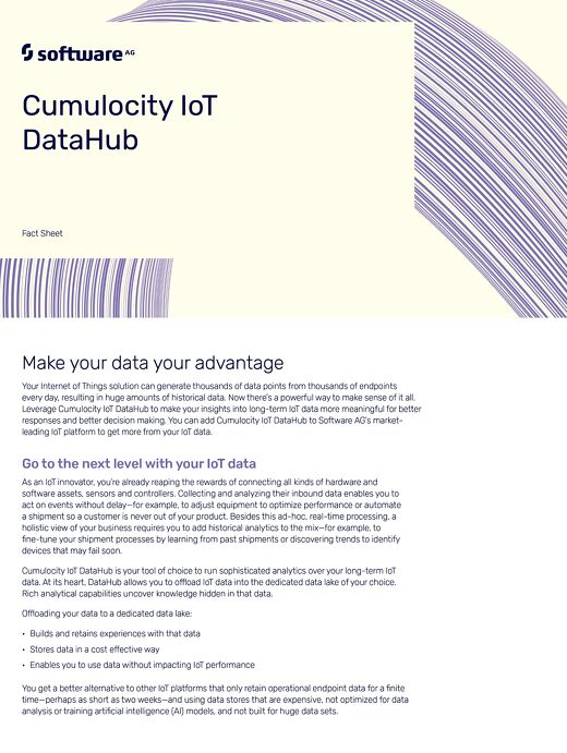 The facts about Cumulocity IoT DataHub