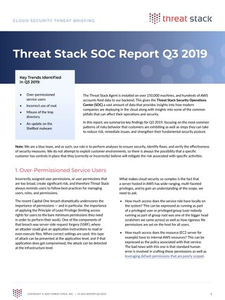 Threat Stack SOC Report Q3 2019