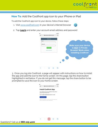 How to Save Coolfront in iPhone or iPad iOS