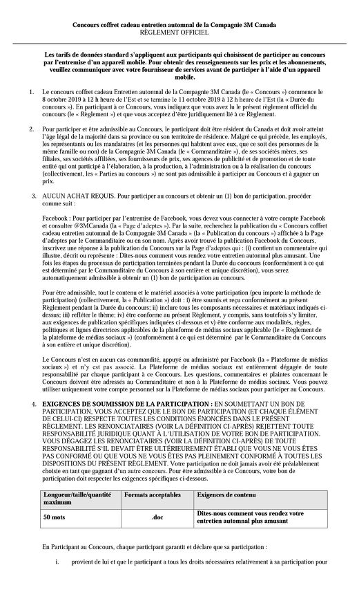 Rules and Regulations French Octobre 2019