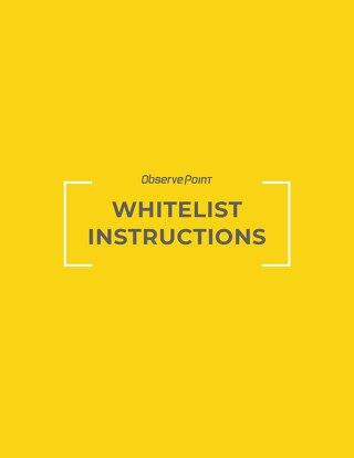 ObservePoint Whitelist Instructions