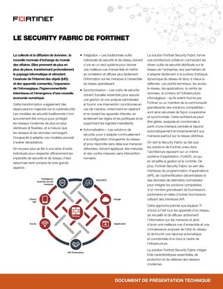 Security Transformation Requires a Security Fabric