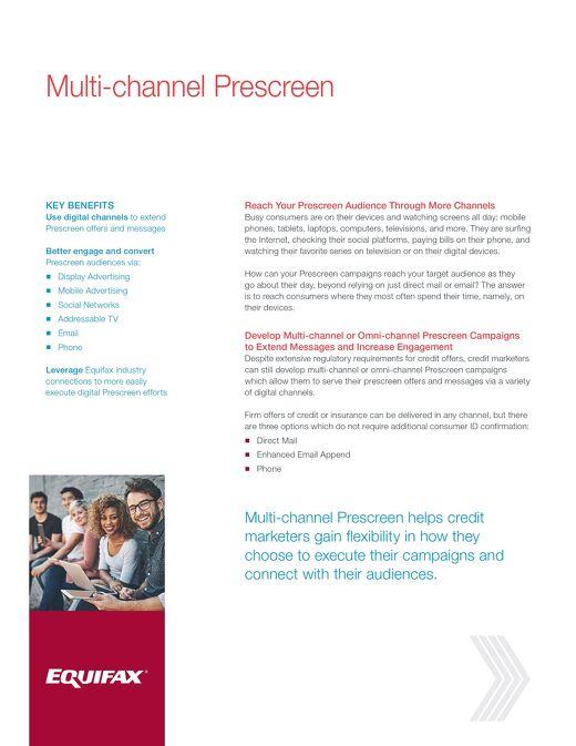 Multi-channel Prescreen - Product Sheet