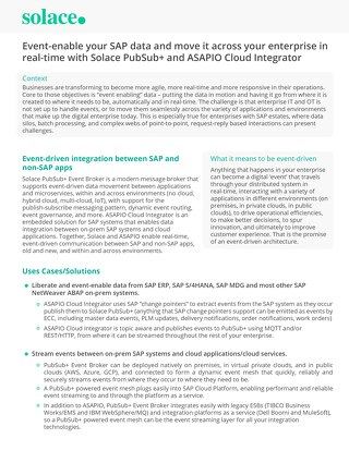 Solace & ASAPIO Solution Brief