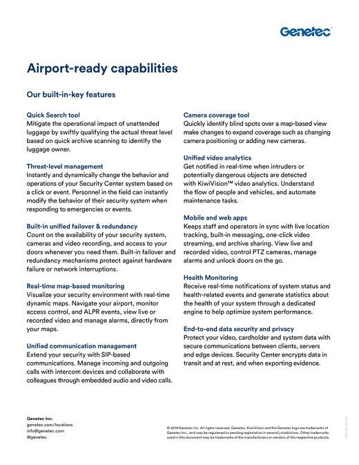 Airports portfolio key features