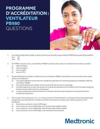 PROGRAMME D'ACCRÉDITATION : VENTILATEUR PB980 QUESTIONS