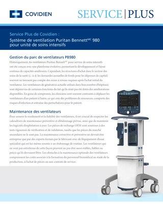 Service Plus : Système de ventilation Puritan Bennett 980 pour unité de soins intensifs