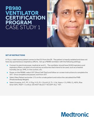 PB980 VENTILATOR CERTIFICATION PROGRAM CASE STUDY 1