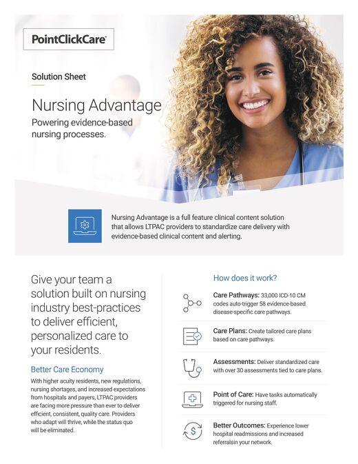 Nursing Advantage Solution Sheet