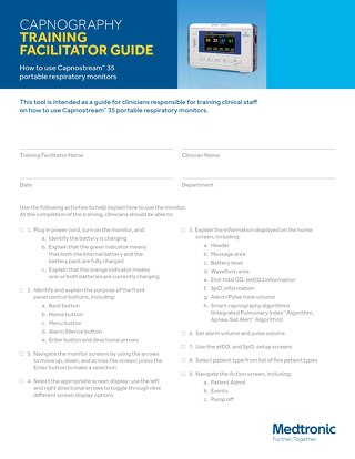 CAPNOGRAPHY TRAINING FACILITATOR GUIDE