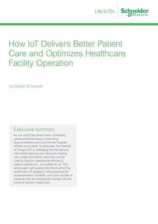 WP - How IoT Delivers Better Patient Care and Optimizes Healthcare Facility Operation