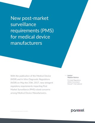 New post-market surveillance requirements (PMS) for medical device manufacturers