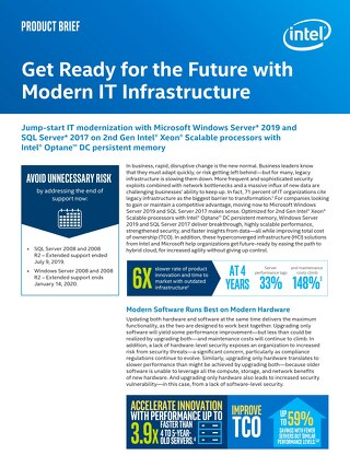 Intel - Product Brief - Future Modern IT Infrastructure
