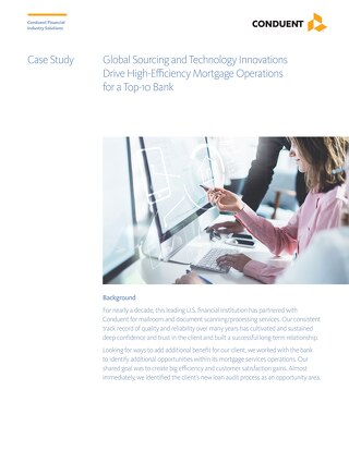 Applying OCR technology and global resources to automate processes of inbound communication and drive efficiency