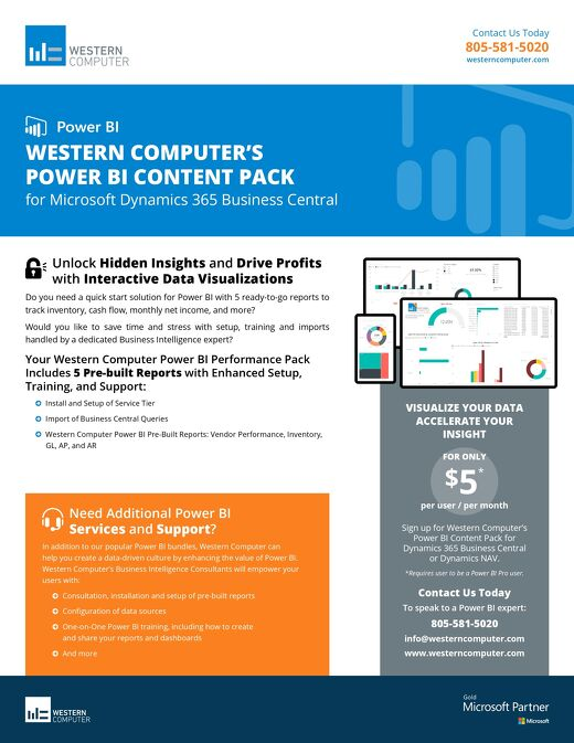 Power BI Content Pack for Dynamics 365 Business Central