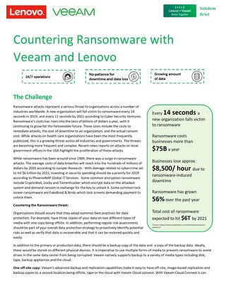 Countering Ransomware with Veeam and Lenovo