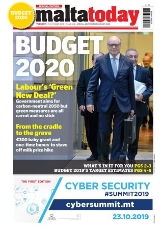 MALTATODAY 15 October 2019 Midweek BUDGET 2020