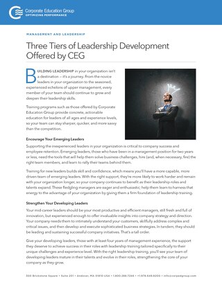 Three Tiers of Leadership Development
