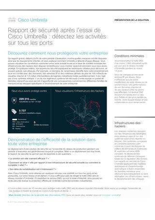 Rapport de sécurité après l'essai de Cisco Umbrella : détectez les activités sur tous les ports