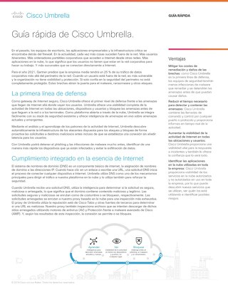 Guía rápida de Cisco Umbrella